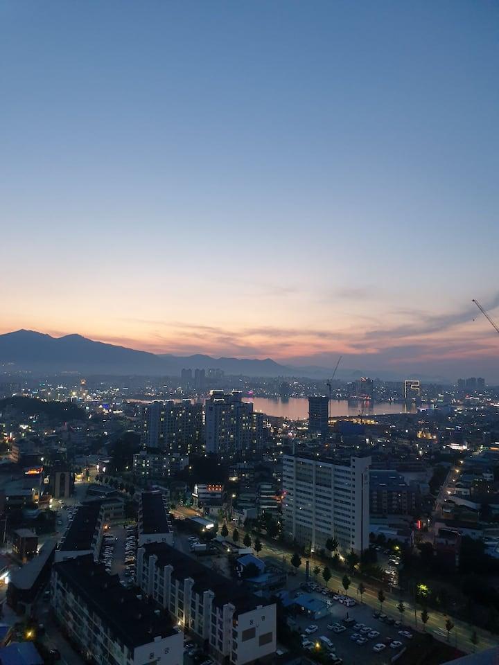 야경이너무너무이쁜 속초신축레지던스호텔입니다 연박 ㅡ일주일  할인 ㆍ환영 해피뉴이얼^^