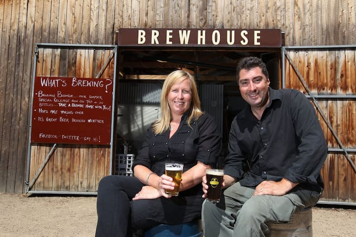 Love a Brewery? Visit Karen and David at Red Hill Micro Brewery, just up the road.