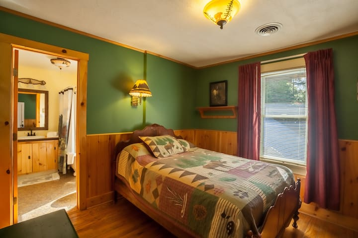 Queen or full size bed on Big Moose Lake