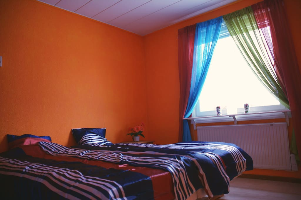 Orange room ,private double bed