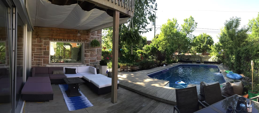 Cool place, cool pool in Montreal - Montréal - Haus
