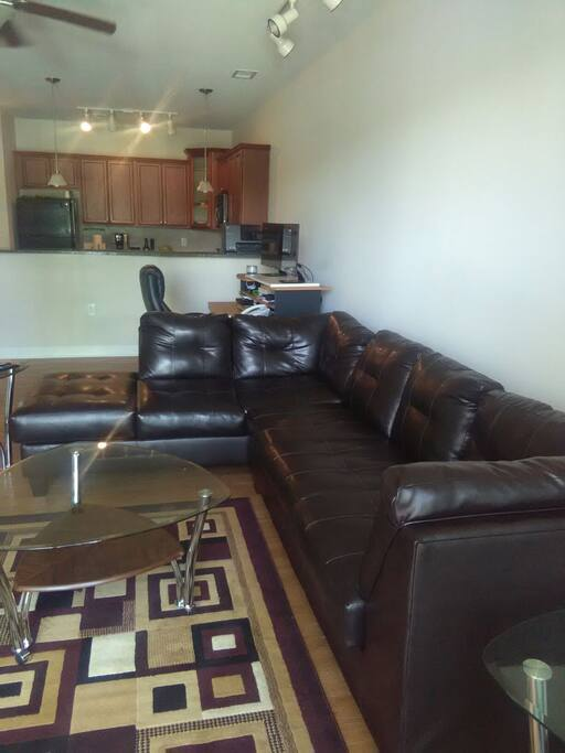 Living Room and Work Area
