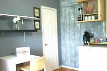 ROOM AND COFFEE AREA