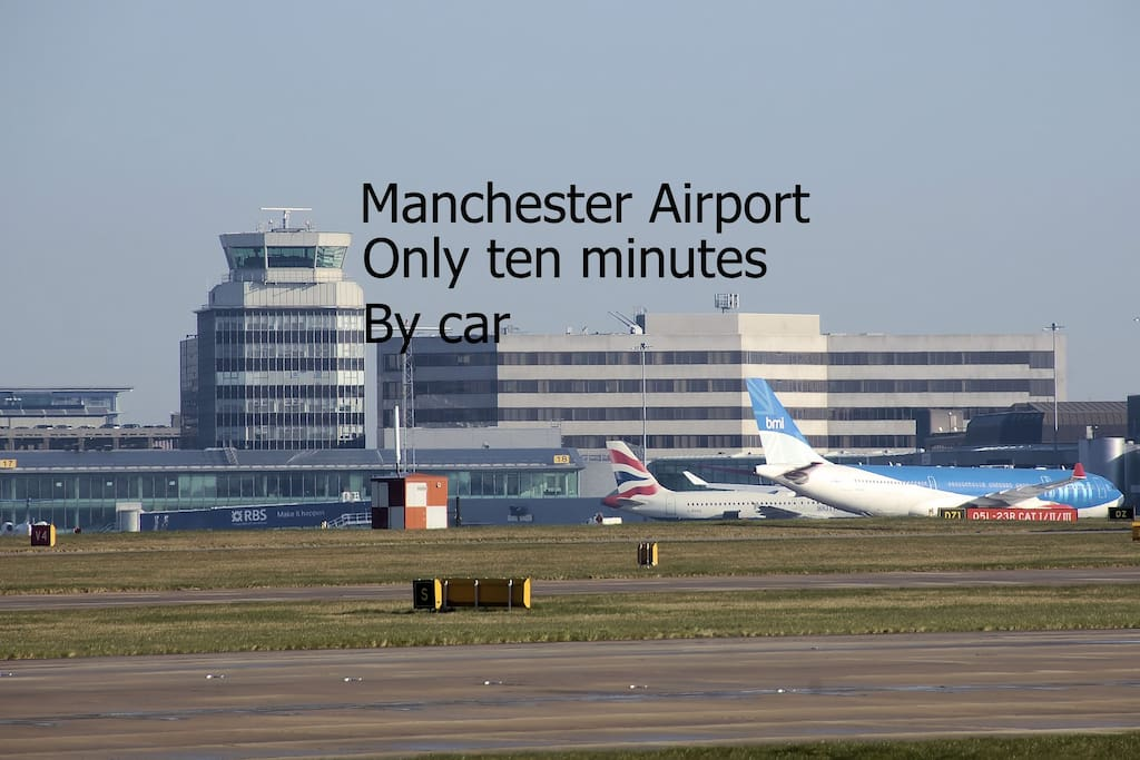 Thanks to the new A555 SEMMMS link road we are within extremely easy reach of Manchester International Airport