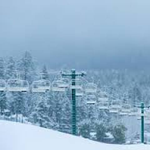 Snow Summit Ski Resort is 2.3 miles from the cabin. Bear Mountain Ski Resort is 4.1 miles from the cabin.