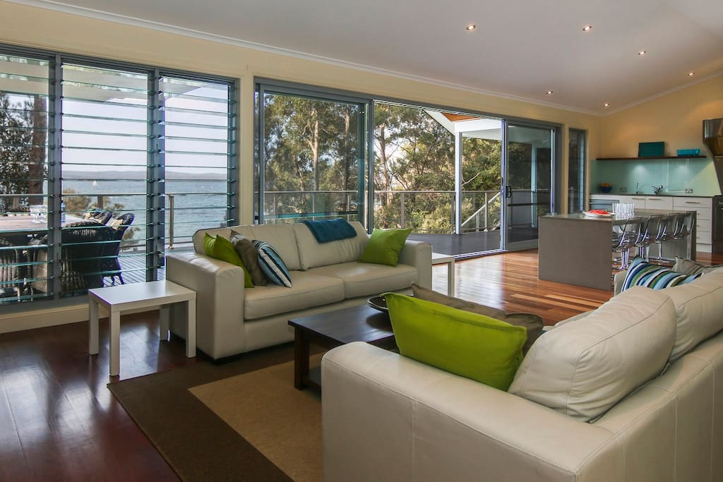 Relax in one of three beautiful living areas