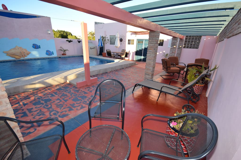 Common area by back house and pool