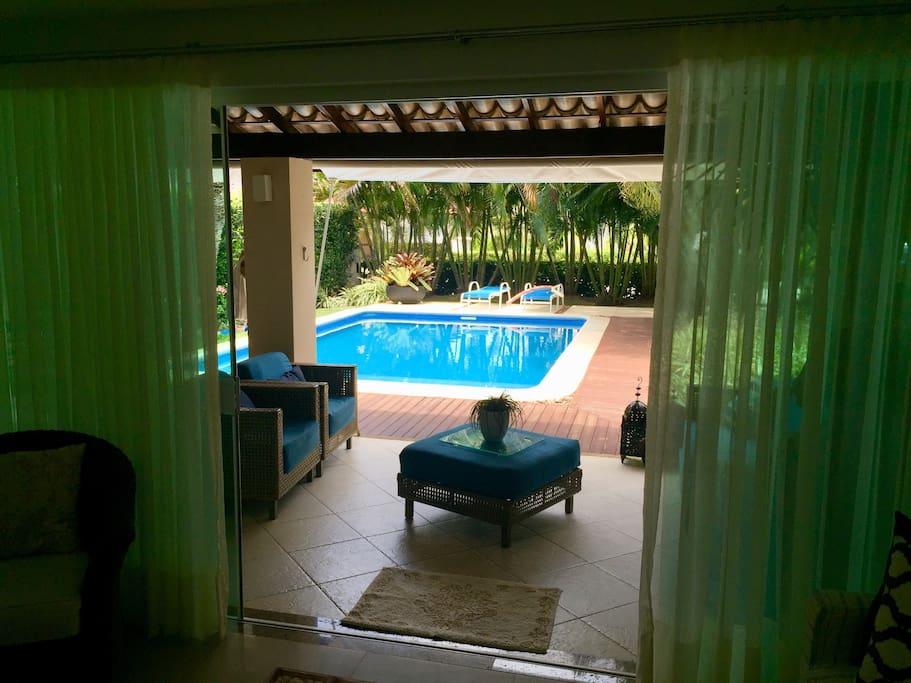 Varanda piscina