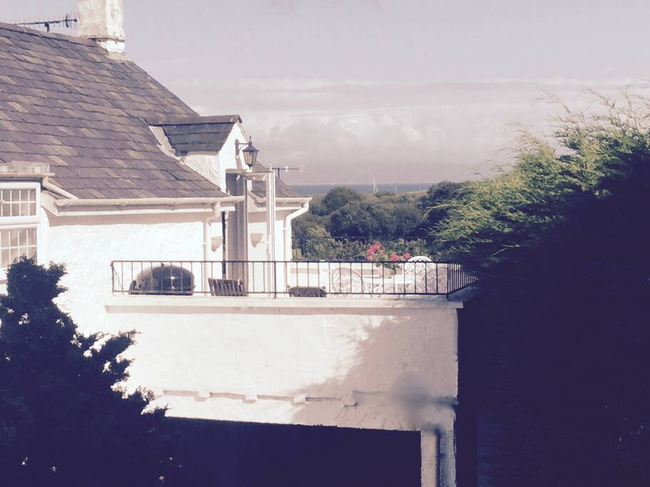 Terrace with View of Golf Course and Cardigan Bay