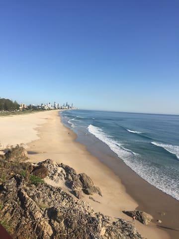 Ocean view appartment less than 50m to the beach