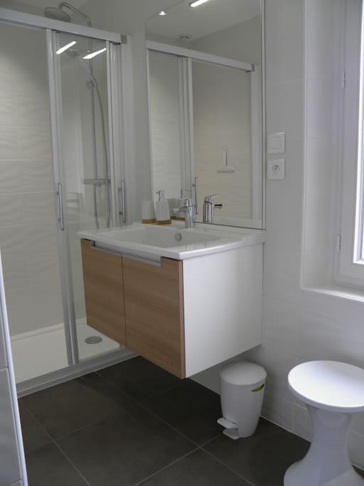 La Salle de bains avec WC