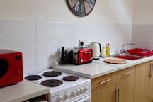 Fully equipped kitchen with breakfast provided