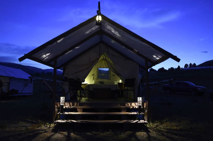 Come experience sleeping  in a cabin or wall tent all while being  on a tranquil Heritage Organic Orchard.... Glamping & Magical 4  accommodations avail. : The Rock Candy,wall tent The City of Paris,wall tent The Phoenix,wall tent The Mariner, cabin