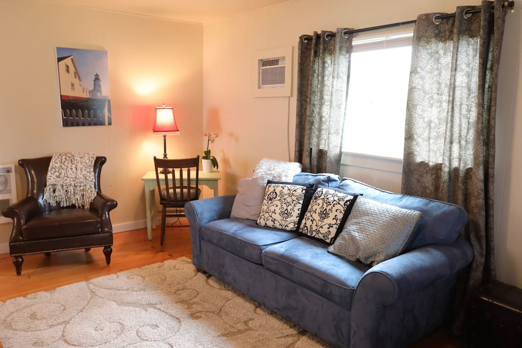 Spacious Living area with cable, DVD and Sleeper Sofa