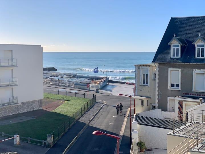 Terrasse vue mer, appartement lumineux de 66m2