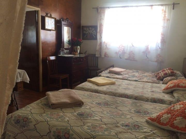 Habitación en casa antigua en el centro de El Oro.