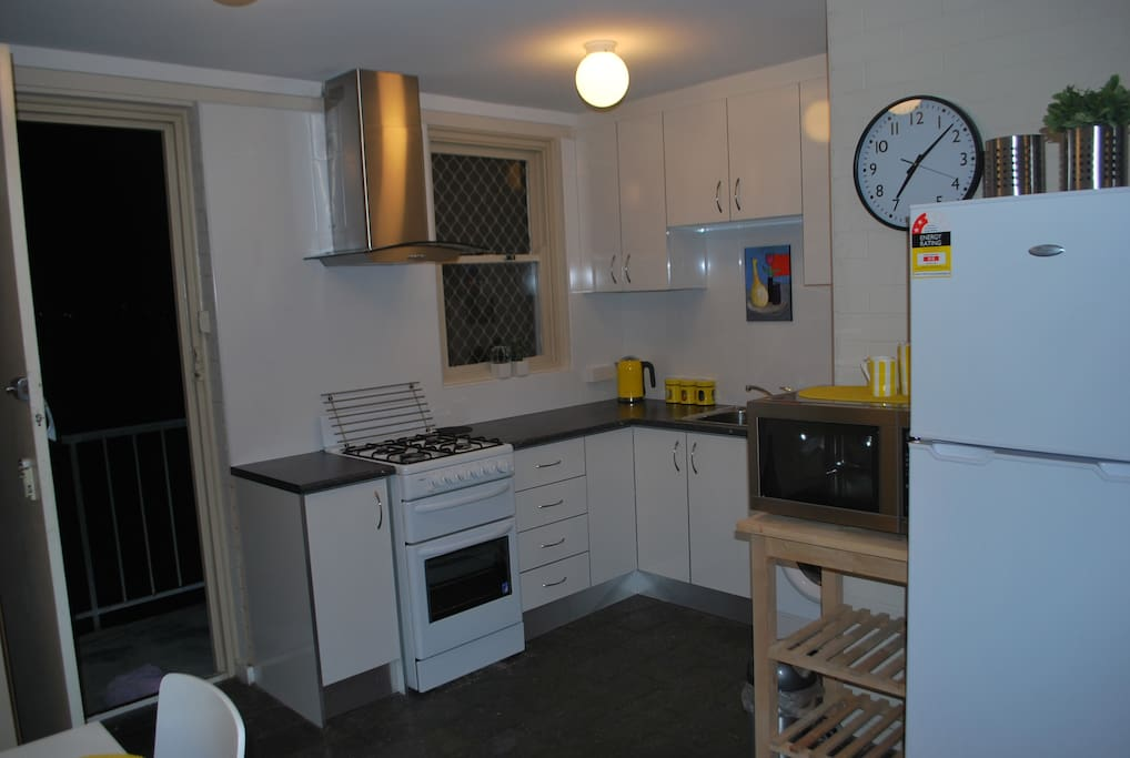 Fully-equipped, new kitchen