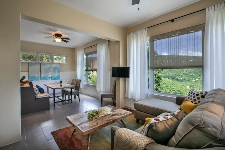 Enjoy the views of the Carolina Valley from the windows.