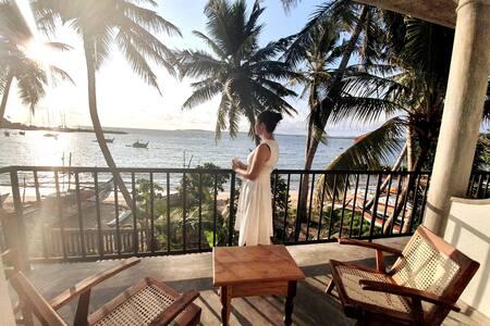 """""""Mamma Mia Mirissa"""" N1, ocean view, AC, breakfast"""