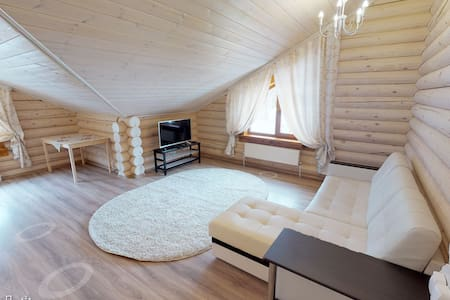 Дом для отдыха с террасой и мангальной зоной