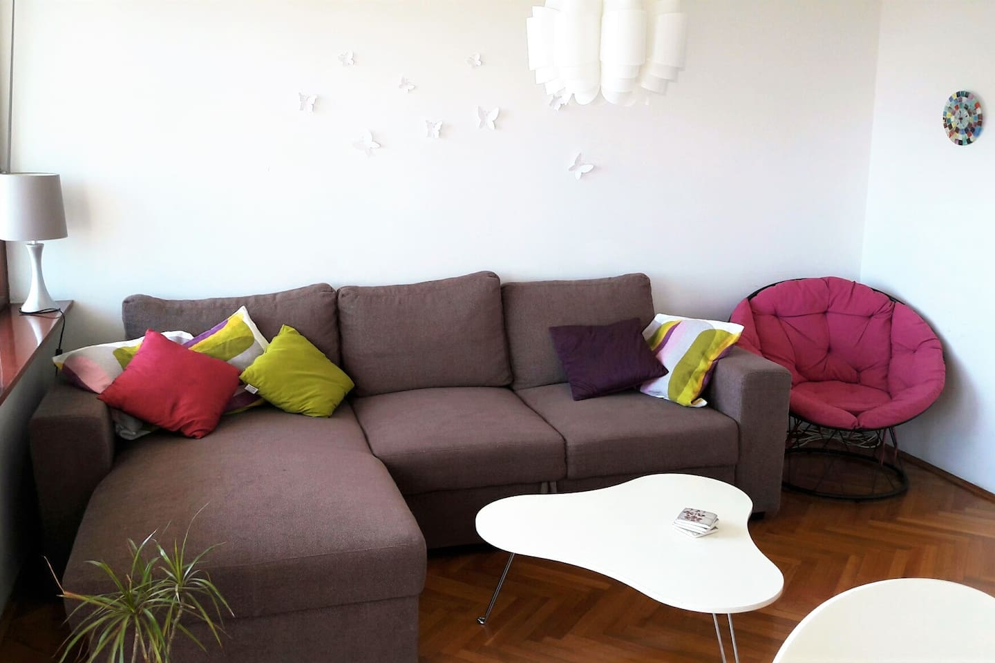 living room and sofa with extra beds