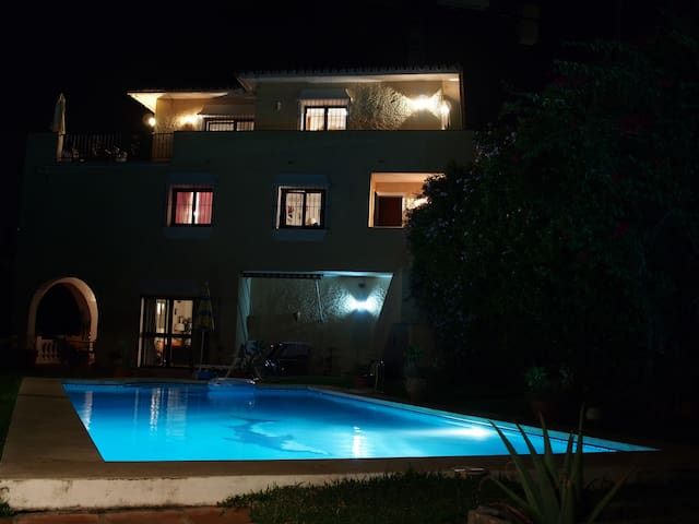 VILLA from BBC by night