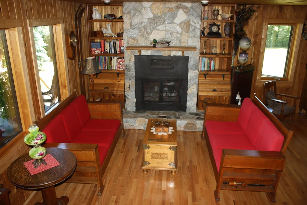 Living Room with fire place