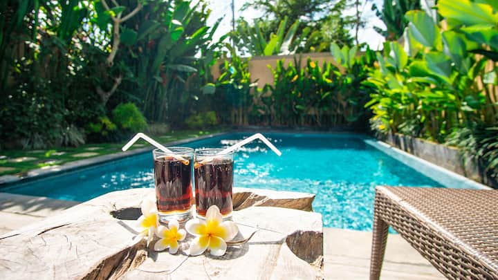 ★2BD★ Private Villa with Pool/View/10min Tanah Lot