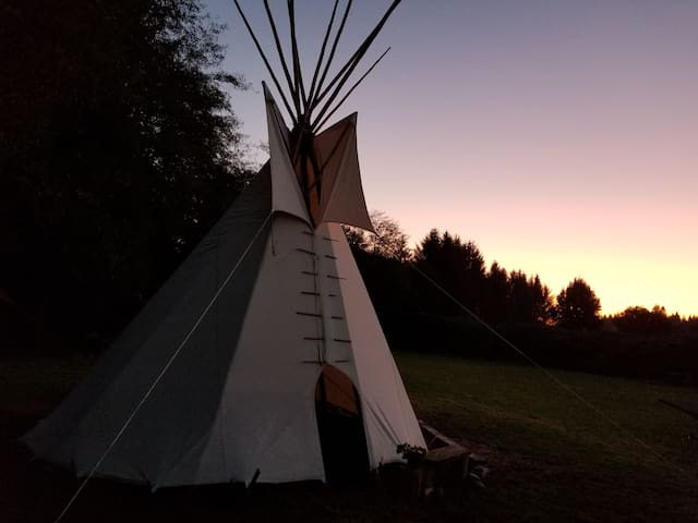 368sq' of luxurious ancestral teepee on the water
