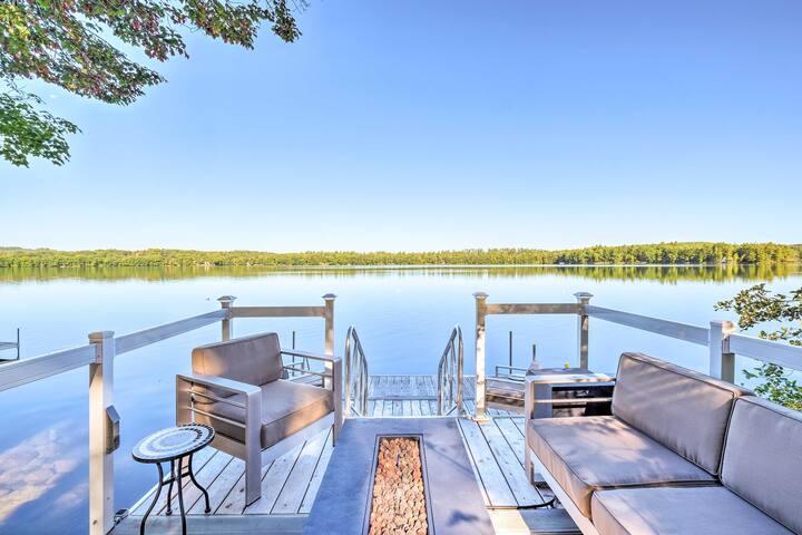 Cozy Cottage on Maranacook Lake w/ Updated Dock!