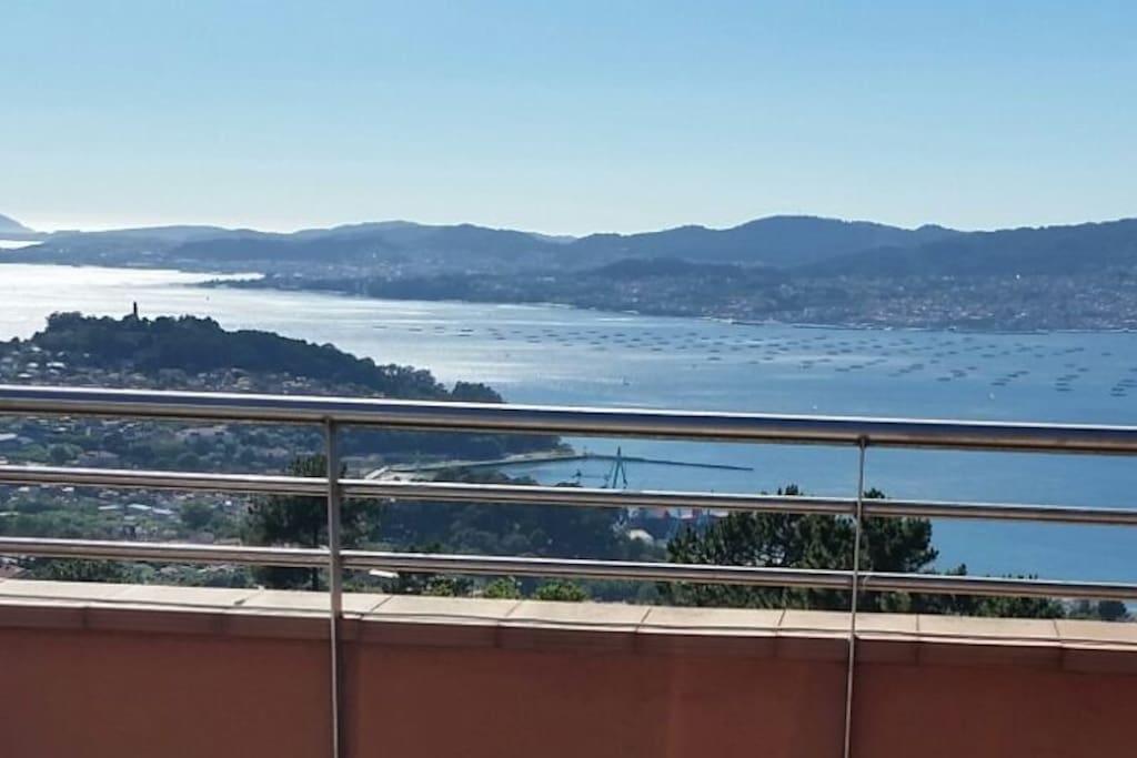 Vistas al mar desde la terraza