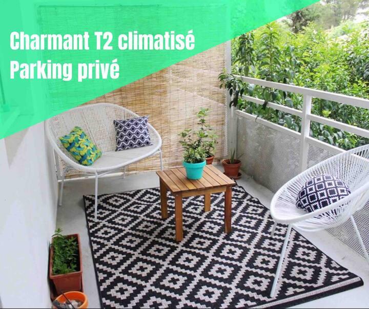 Charmant T2 avec grande terrasse