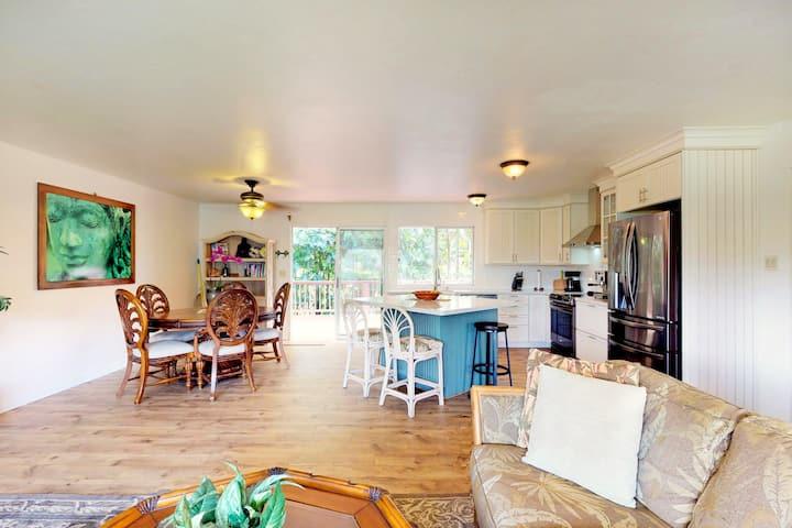 Recently remodeled Princeville home w/ large lanai, yard, & views