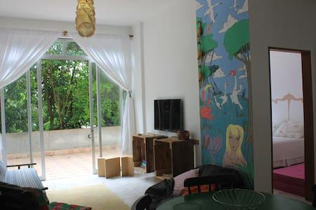 Maravilhosa vista na Ilha Porchat - São Vicente - Apartament