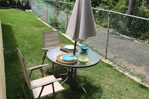 Outdoor Lounge furniture Seats - smoking aloud here only