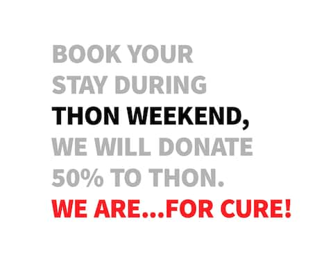 Everyone needs a little help sometimes. Thon weekend is around the corner. 50% of our Thon earnings will go to Thon.