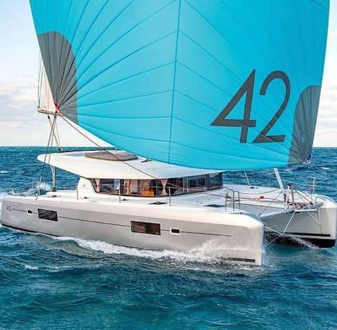 Dreaming  Amalfi coast from the catamaran