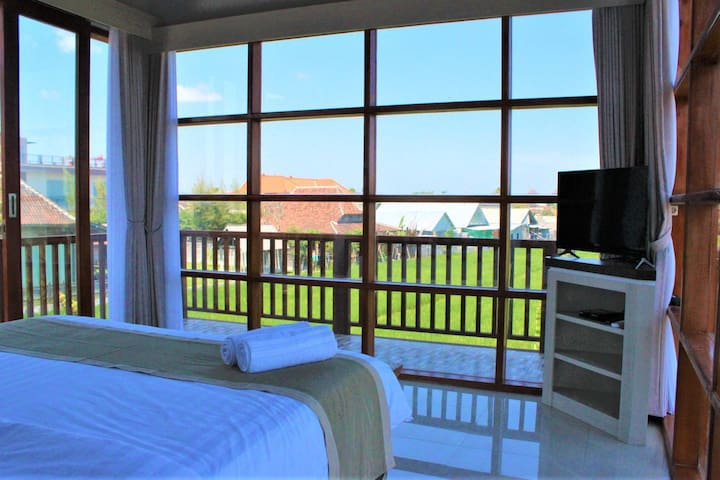 Hoki109 cozy 3BR with private pool&rice field view