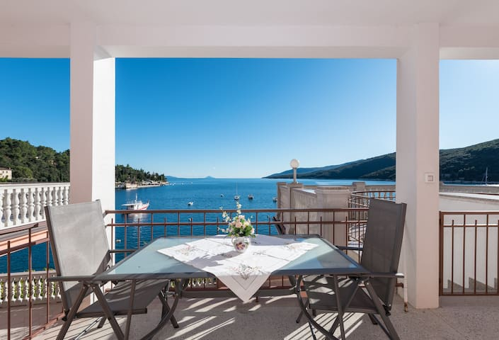 Spacious apartment w/ terrace at seafront (2-4p)