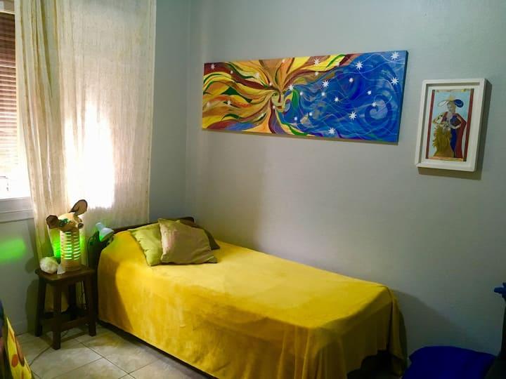 Quartos em casa/atelier de Vila em Pinheiros