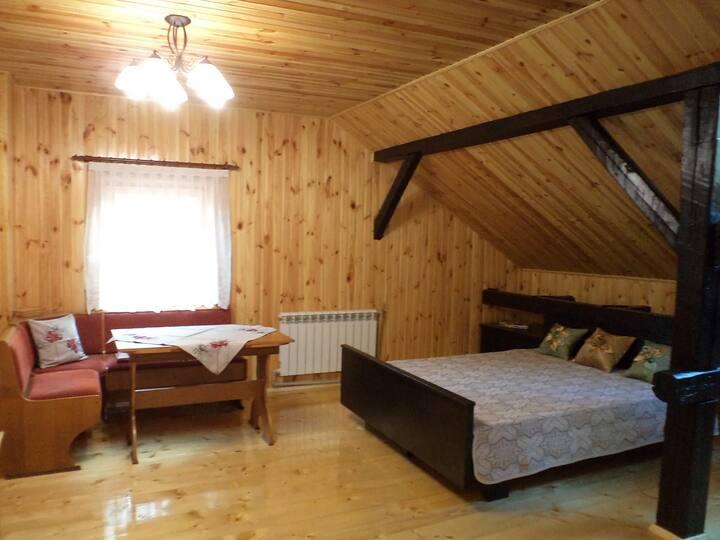 Однокомнатная квартира в особняке с русской баней