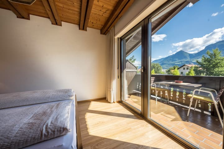 Rustic Holiday Apartment with Pool, Balcony & Mountain View; Parking Available, Pets Allowed