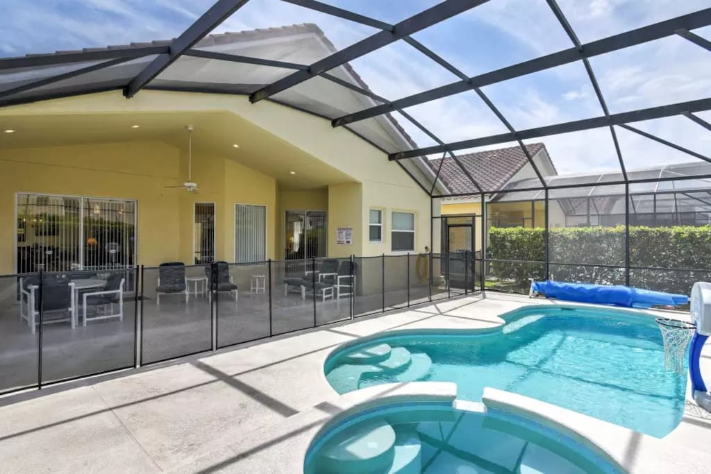 Heated Pool and Spa with Safety Fence
