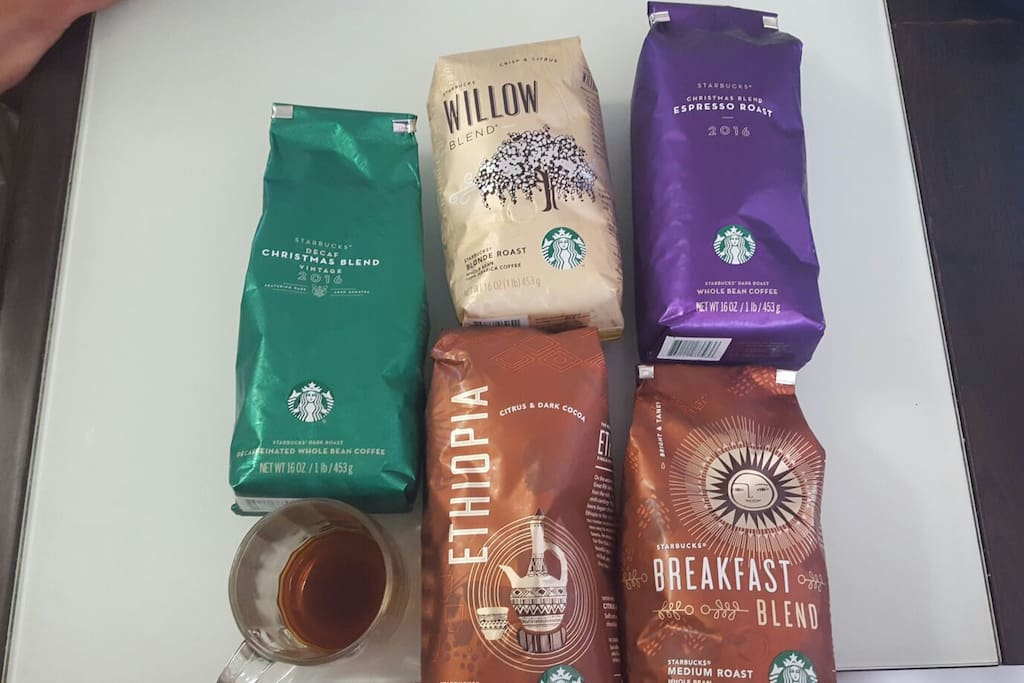 Different types of coffee available. it changes frequently!!
