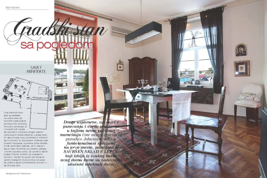"From ""Best Home"" magasin, ""City apartment with a soul"" ps.the last 3th sleeping room (on the drowing) is not includeed as it`s beeing used as a utility room"