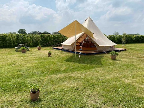 Bell Tent on a quiet family farm