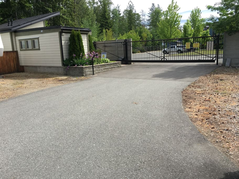 Gated RV park with wash rooms, shower  & laundry facility
