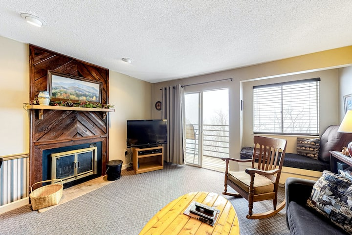 Cozy Family Condo w/ Free WiFi, a Wood Fireplace, & a Shared, Seasonal Pool