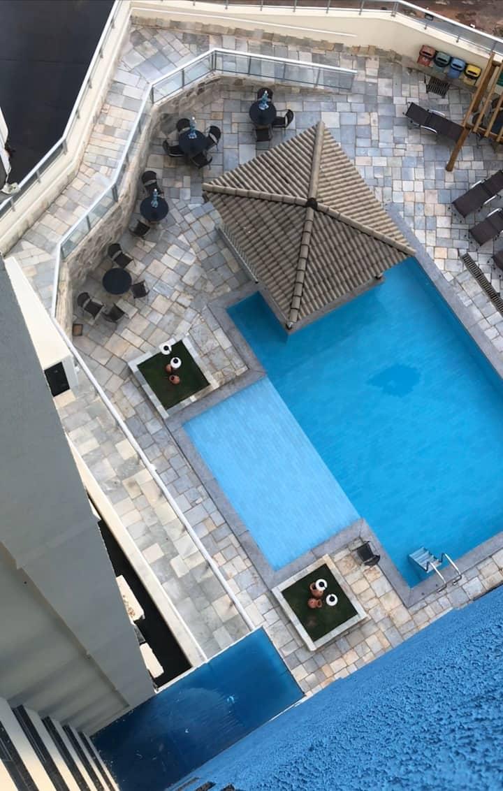 Apartamento em Caldas Novas com lazer e piscinas