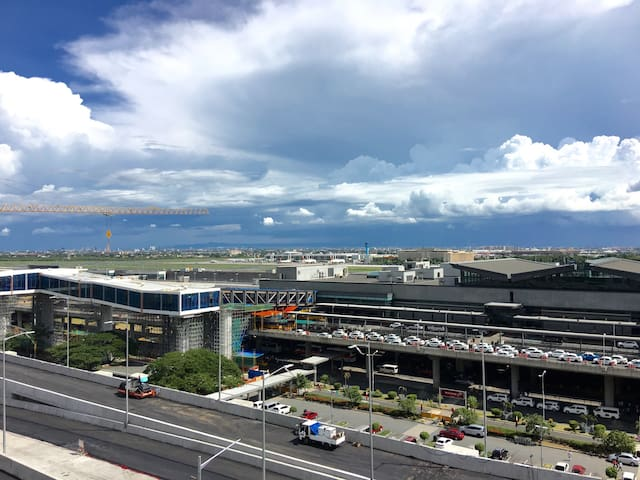 The view of NAIA Terminal 3 from the balcony